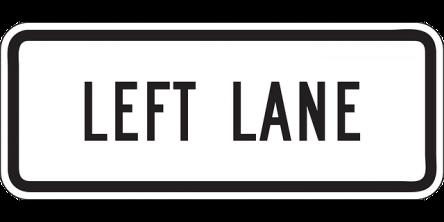 Left Lane Driving