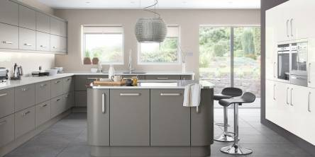 Gray Gloss Kitchen Doors