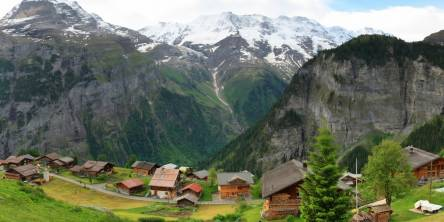 Picturesque Village of Gimmelwald, Switzerland
