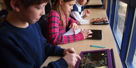 Children Using iPads at School