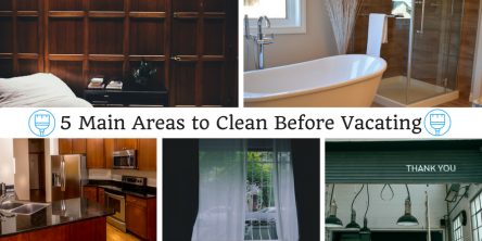 5 main areas to clean before vacating