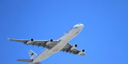 Aeroplane Against A Blue Sky