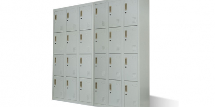 Baumr-AG Grey 12-Door w/ 3-keys each Lockable Gym Storage Locker