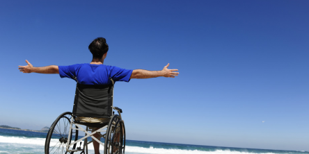 travelling in wheelchair