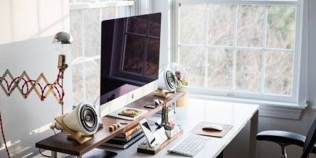 Create a home office that doesn't waste energy.