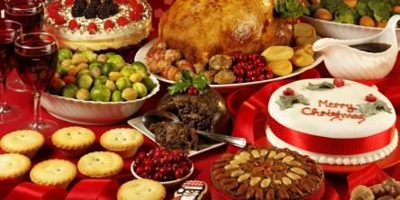 christmas food table