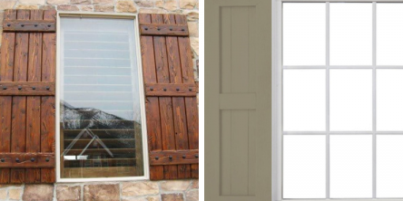 Comparison between Vinyl and Wood Shutters