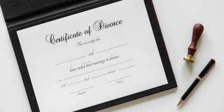 divorce papers