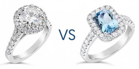 diamond gemstone engagement rings