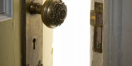 a door opens to your new rented property