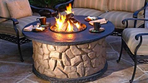 outdoor chimenea