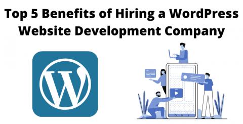 Top 5 Benefits of Hiring a WordPress Website Development Company