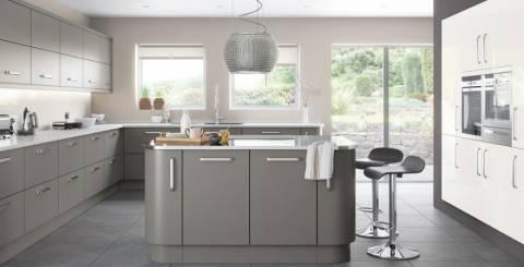 Gray Gloss Kitchen Doors
