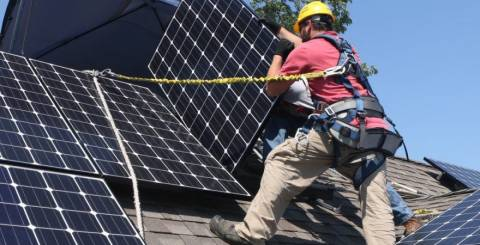 How is a solar panel made