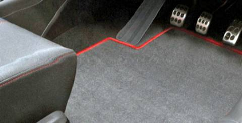 A set of tailored car mats