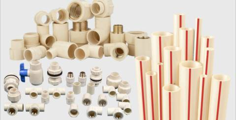 Pipes for Plumbing of Cold and Hot Water in Winters