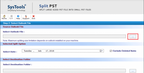 Split Large Outlook Archive PST Files into Smaller Parts
