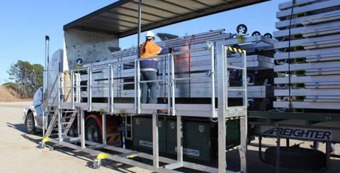 mobile work aluminium platforms