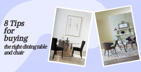 Tips for buying the right dining table and chair