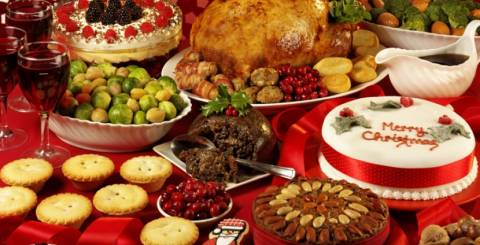 christmas food table