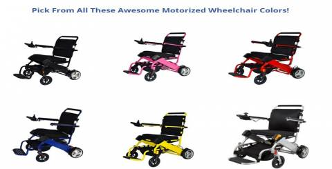 Pick From All These Awesome Motorized Wheelchair Color
