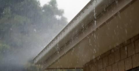 rain falling on roof