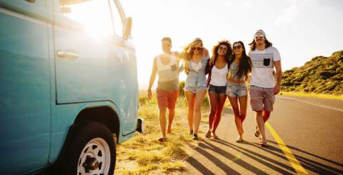 group of friends road trip
