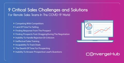 9 Critical Sales Challenges and Solutions For Remote Sales Teams In This COVID-19 World