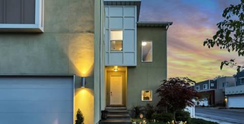 Illuminated home exterior