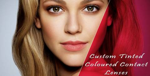 Custom Tinted Coloured Contact Lenses